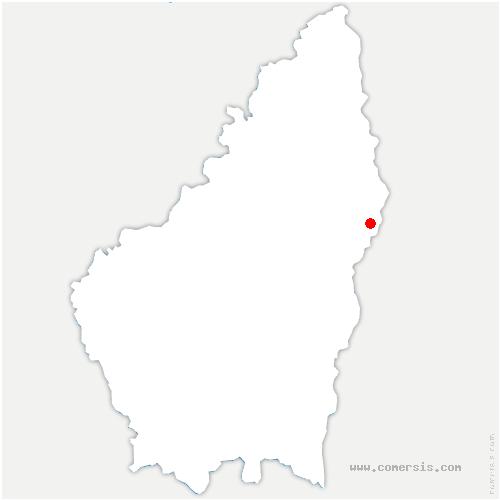 carte de localisation de Saint-Georges-les-Bains