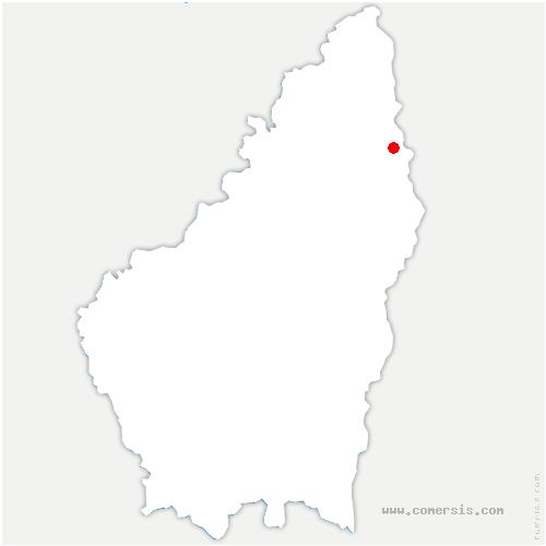 carte de localisation de Saint-Jean-de-Muzols