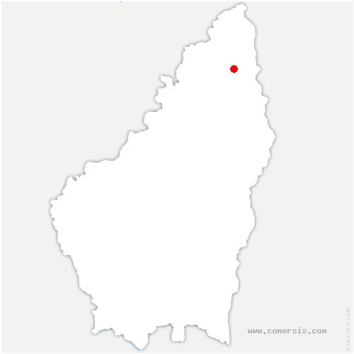 carte de localisation de Saint-Jeure-d'Ay