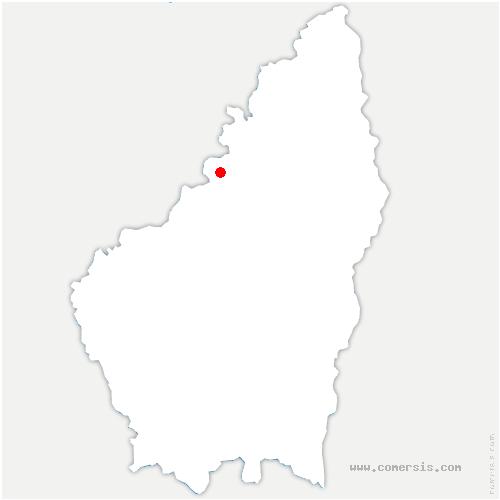 carte de localisation de Saint-Julien-d'Intres