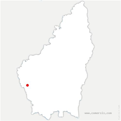 carte de localisation de Saint-Laurent-les-Bains-Laval-d'Aurelle