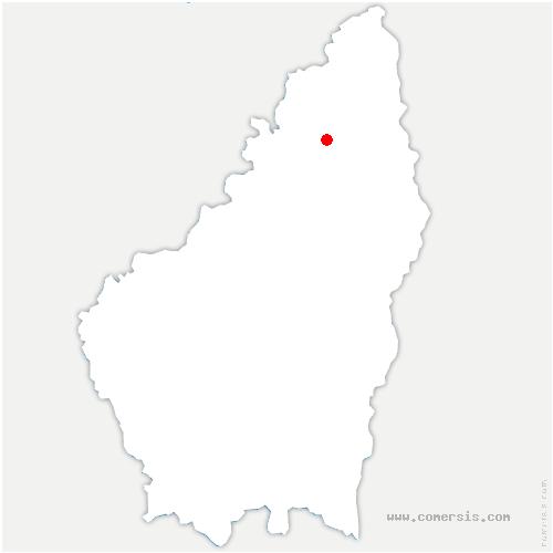 carte de localisation de Vaudevant