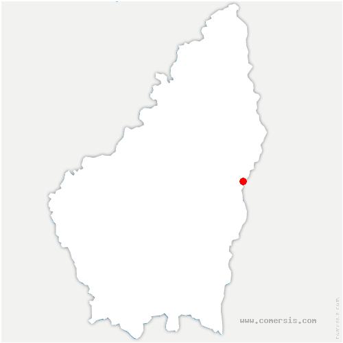 carte de localisation de Voulte-sur-Rhône