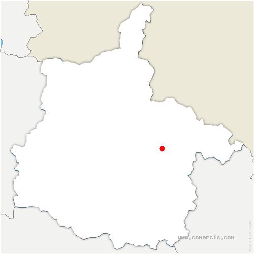 carte de localisation de Chémery-Chéhéry