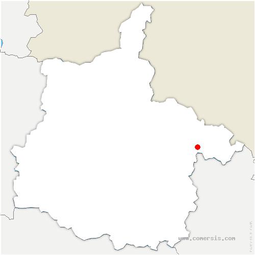 carte de localisation de Mouzon
