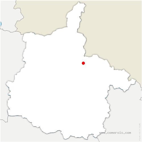 carte de localisation de Vrigne-aux-Bois