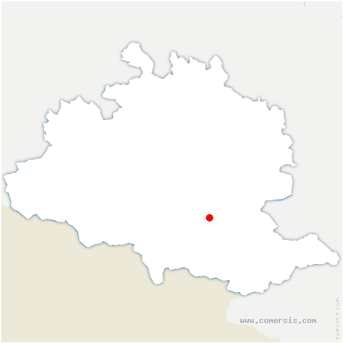 carte de localisation de Aulos-Sinsat