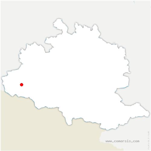 carte de localisation de Bordes-Uchentein