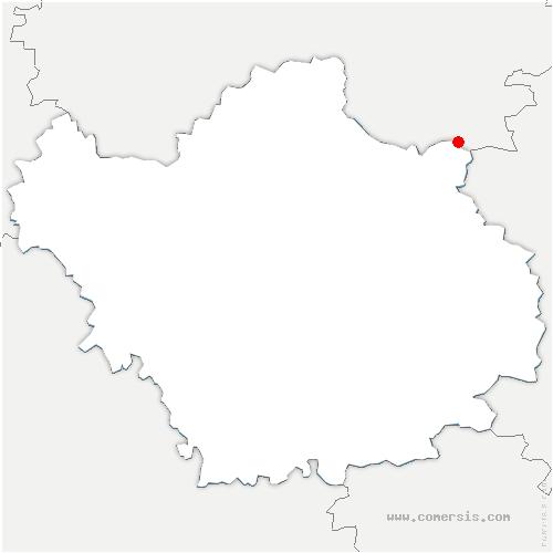 carte de localisation de Arrembécourt