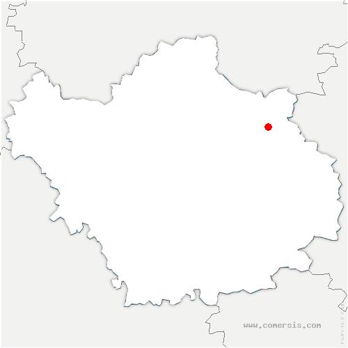 carte de localisation de Blignicourt