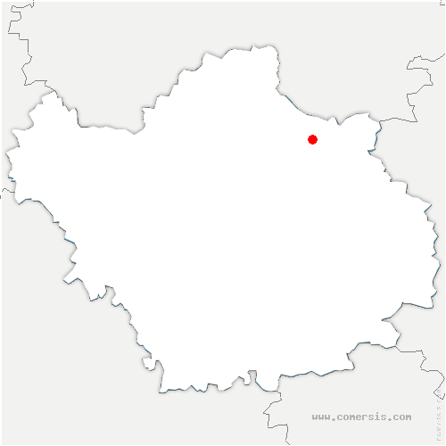 carte de localisation de Braux