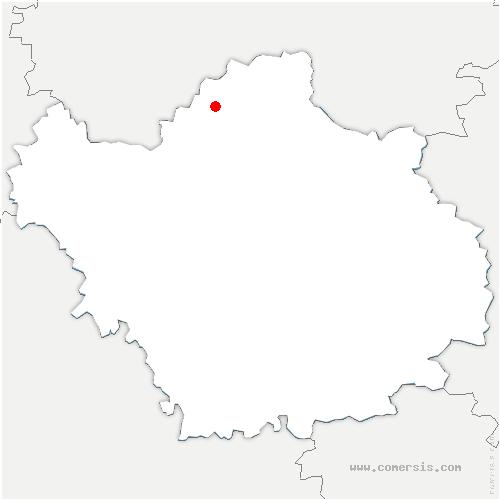 carte de localisation de Champfleury