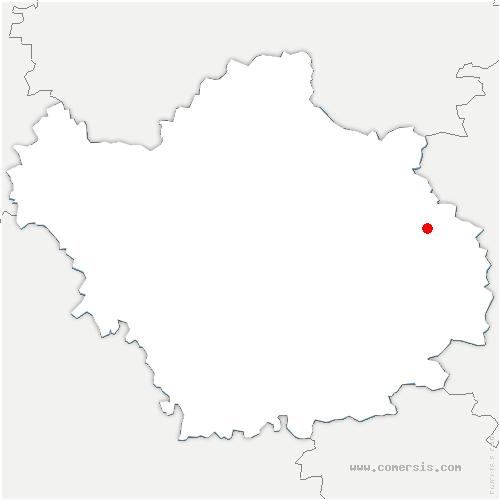 carte de localisation de Chaumesnil