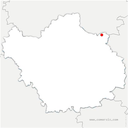 carte de localisation de Chavanges