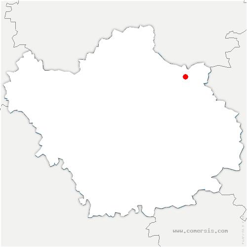 carte de localisation de Courcelles-sur-Voire