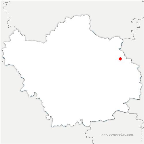 carte de localisation de Crespy-le-Neuf