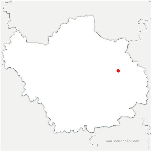 carte de localisation de Dienville