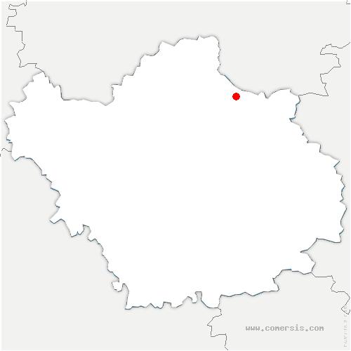 carte de localisation de Donnement