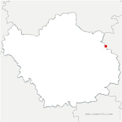 carte de localisation de Épothémont