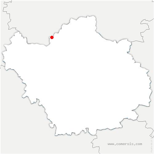 carte de localisation de Étrelles-sur-Aube