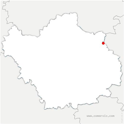 carte de localisation de Hampigny