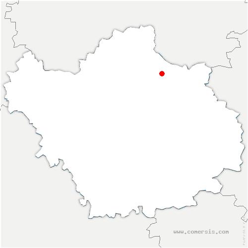 carte de localisation de Jasseines