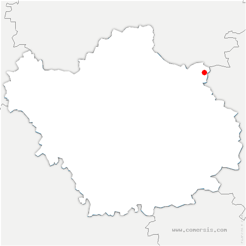 carte de localisation de Joncreuil