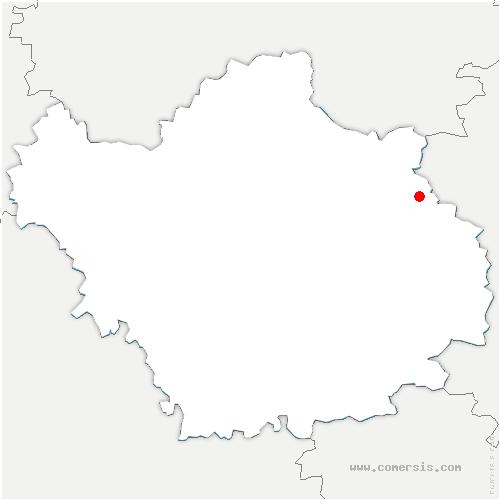 carte de localisation de Juzanvigny