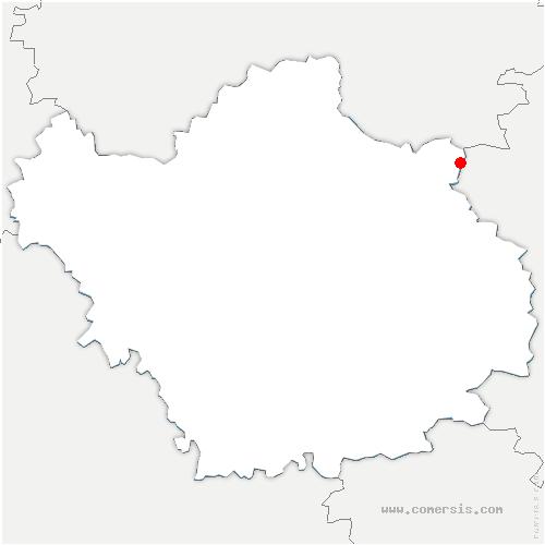 carte de localisation de Lentilles