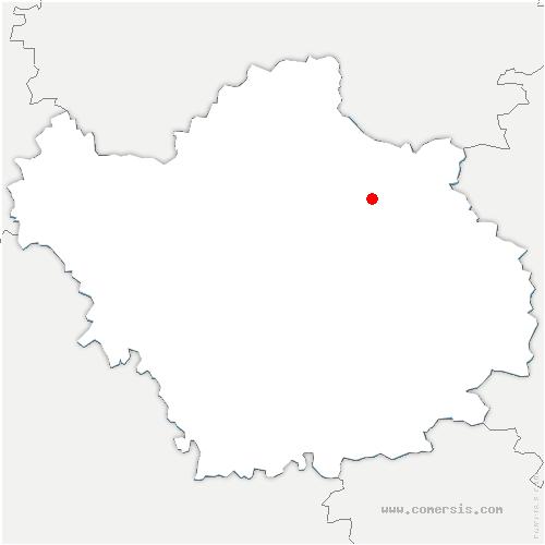 carte de localisation de Lesmont