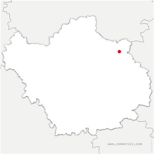 carte de localisation de Montmorency-Beaufort