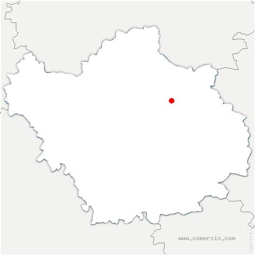 carte de localisation de Pel-et-Der