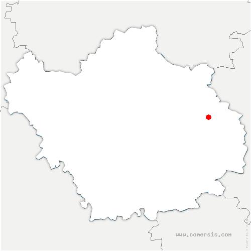 carte de localisation de Petit-Mesnil