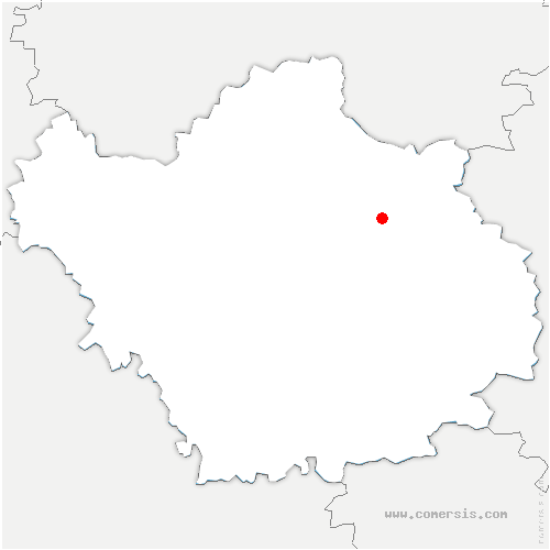 carte de localisation de Précy-Notre-Dame