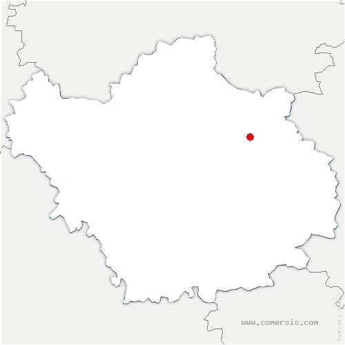 carte de localisation de Précy-Saint-Martin