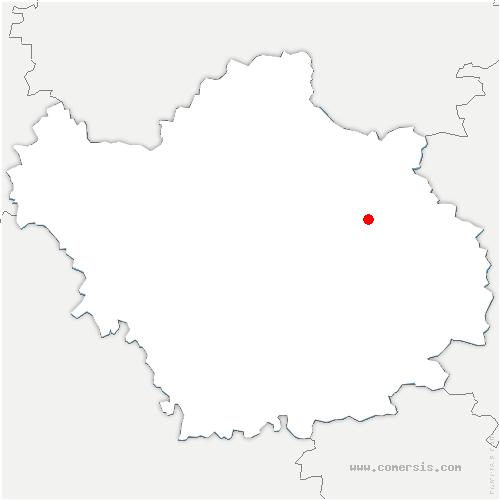 carte de localisation de Radonvilliers