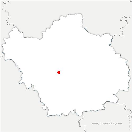 carte de localisation de Rosières-près-Troyes