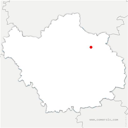 carte de localisation de Saint-Christophe-Dodinicourt