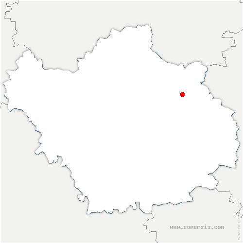 carte de localisation de Saint-Léger-sous-Brienne