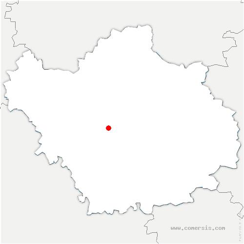 carte de localisation de Sainte-Savine