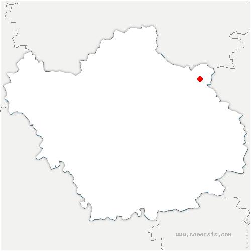 carte de localisation de Villeret