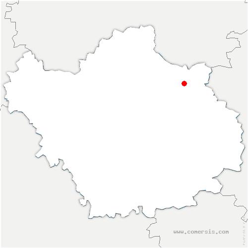carte de localisation de Yèvres-le-Petit