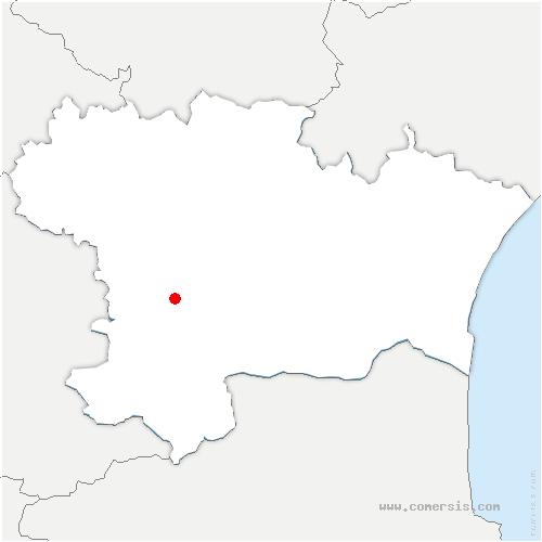 carte de localisation de Roquetaillade-et-Conilhac