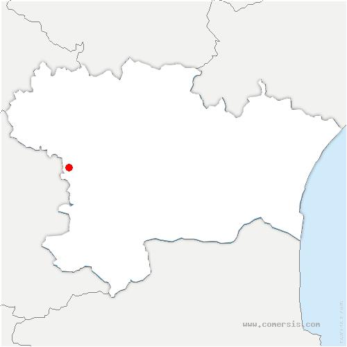 carte de localisation de Val-de-Lambronne