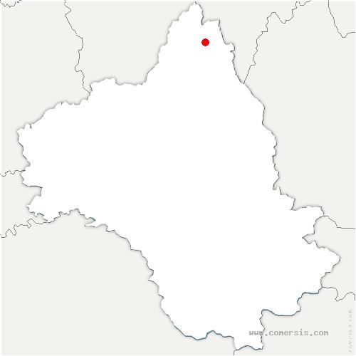 carte de localisation de Argence-en-Aubrac