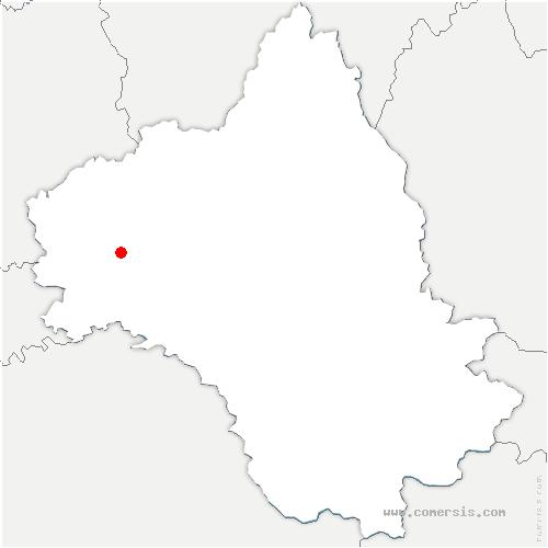 carte de localisation de Bas-Ségala