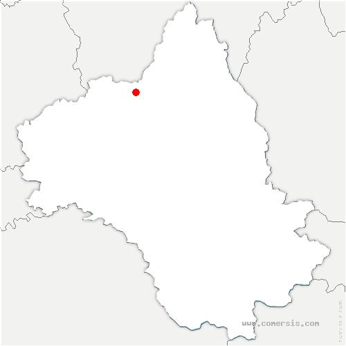 carte de localisation de Conques-en-Rouergue