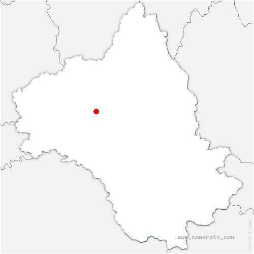 carte de localisation de Druelle Balsac