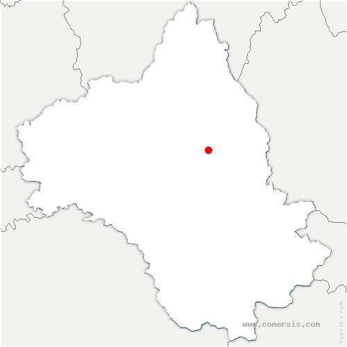 carte de localisation de Laissac-Sévérac-l'Église