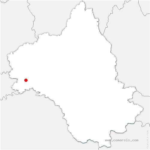 carte de localisation de Lunac